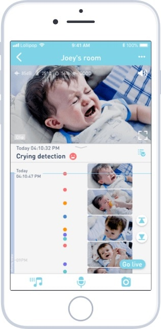 Lollipop baby monitor live view