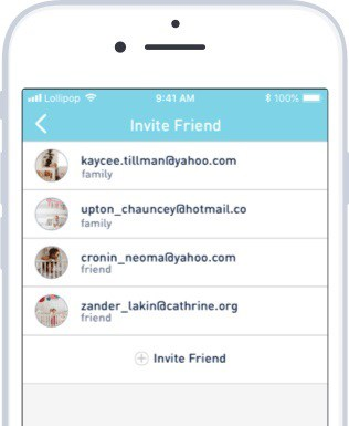image sharing in lollipop baby monitor